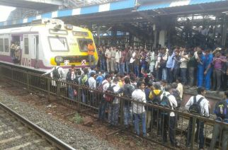 RPF and GRP officials dispersed the agitators and movement of trains resumed by 9.10 am (Picture Courtesy: Western Railway)