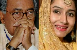 Digvijay Singh and his daughter Karnika Singh