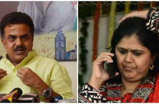 Congress city unit chief Sanjay Nirupam and Maharashtra Minister Pankaja Munde