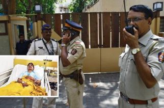 Mumbai Police (inset: One of the officers that was injured during the incident)