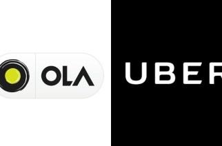 Logos of Ola, Uber