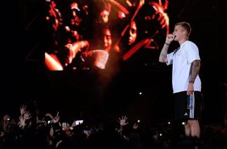 Justin Bieber performing in Mumbai. Picture Courtesy: India.com