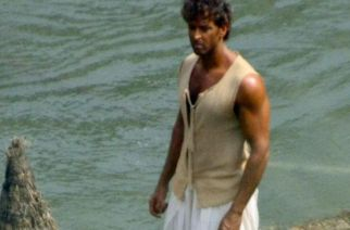 Hrithik Roshan performing one of his film's shots