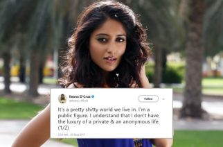 Ileana D'Cruz took to Twitter to slam the fans who misbehaved with her