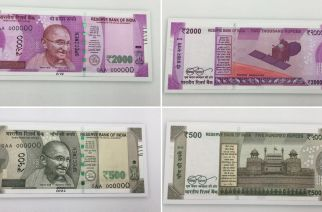 Pictures of new Rs 500 and Rs 2000 notes that will be added to circulation on Nov 10