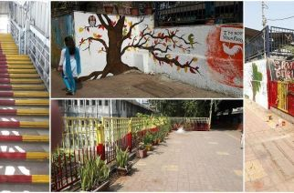 King's Circle station beautified. Picture Courtesy: Narendra Patil, CR