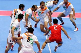 Indian Kabaddi team at the Asian Games