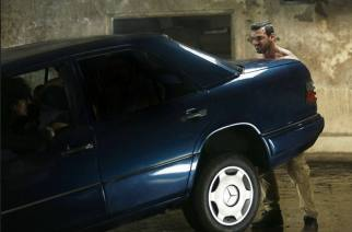 John Abraham lifting the car in Force 2