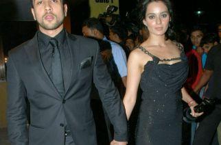 Adyayan Suman and Kangana Ranaut at the Filmfare Awards; Photo courtesy: GoBollywood