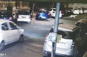 A screengrab of the CCTV footage