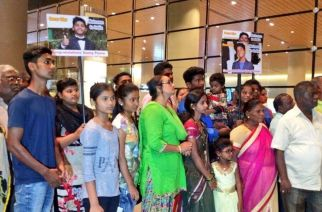 Friends and family waiting for Sunny's arrival at Mumbai Airport. Picture Courtesy: Subhash Namdeo