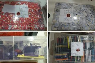 The seized SIM cards, cell phones and rubber stamps. Picture Courtesy: Sanjay M