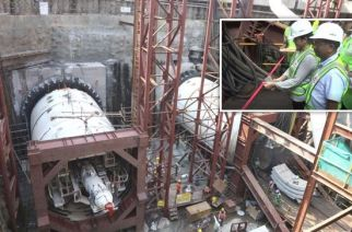 MMRC MD Ashwini Bhide and other top officials were present to witness the first excavation work by the TBM at Nayanagar
