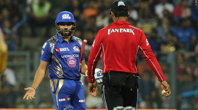 MI captain Rohit Sharma reprimanded for showing excessive disappointment during match with KKR