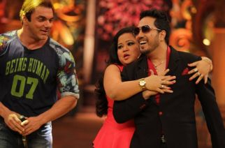 Mika Singh, Bharti Singh and Sohail Khan on the sets of Comedy Nights Live