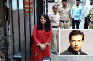 Model Preeti Jain outside the court (inset: director Madhur Bhandarkar). Picture Courtesy: India Today