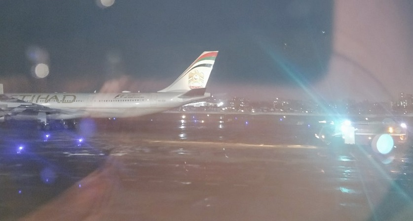 Etihad Airways Plane Tyre Bursts Upon Landing; Passengers Safe