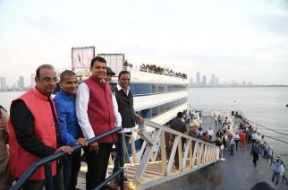 Chief Minister Devendra Fadnavis and other dignitaries at the inauguration of 'Celestial'