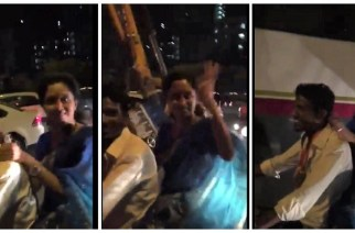 Screengrabs from the video NCP leader Supriya Sule uploaded on her Twitter account