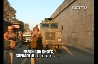 A screengrab of NDTV's Pathankot attack coverage for representation
