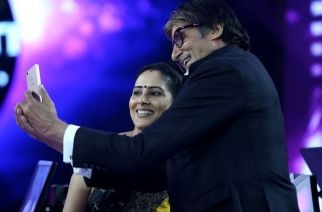 Anamika Majumdar with the show's host Amitabh Bachchan (Picture Courtesy: Rediff)