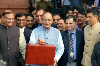 Finance Minister Arun Jaitley before presenting last year's budget