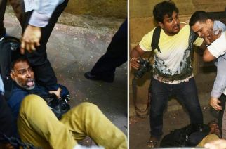Photo journalists being assaulted by Bombay House's security staff. Picture Courtesy: Hasan Shaikh