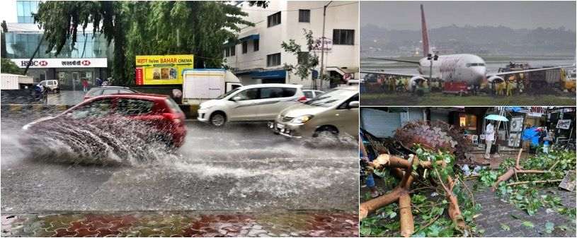 Rains continue to lash Mumbai on Wednesday: Flights halted, rail and road transport hit
