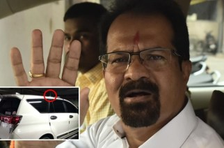 Despite the ban, BMC had installed a red beacon atop Mayor's newly purchased vehicle (Picture Courtesy: IBNLokmat, inset: Mumbai Live)