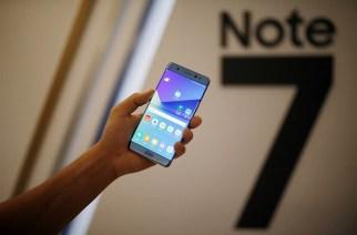 Samsung Note 7 smartphone