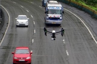 Drones were first used on the Mumbai-Pune expressway as a part of a pilot project in August last year (Picture Courtesy: The Matchbox)