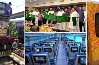 Railway Minister Suresh Prabhu flagged off Tejas Express CST on Monday