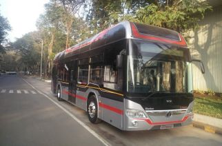 The Starbus Hybrid buses that will ply on BKC-Bandra route. Picture Courtesy: Vikram Gour