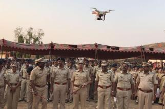 Thane Police with a drone (representational). Picture Courtesy: Ravish Sharma