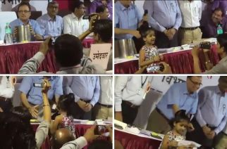 5-year-old Yashika Salunkhe picked the name from the lottery to decide the winner of ward 220