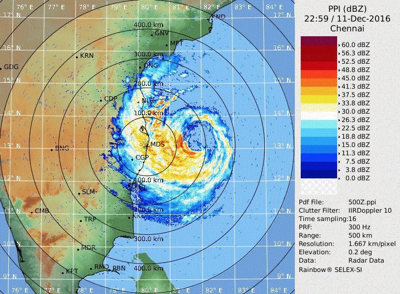 Video: Cyclone Vardah hits Chennai, Tamil Nadu & Andhra Pradesh on high-alert 6