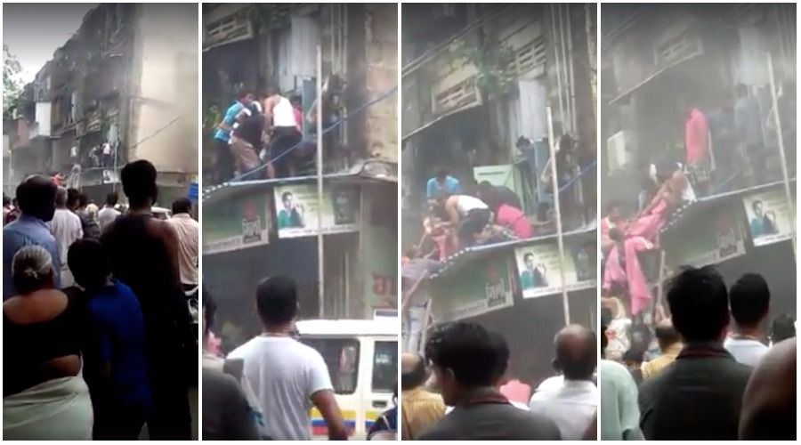 Video: Fire breaks out at Worli's BDD Chawl, locals rescue stranded family