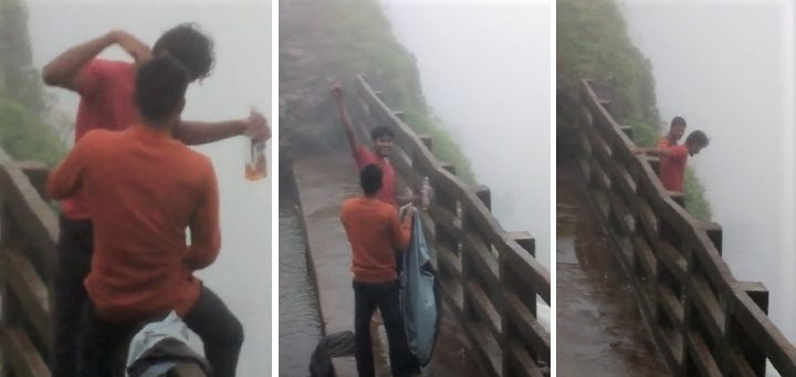 Video: Two drunk men cross safety barrier, fall to their death in Amboli Ghat