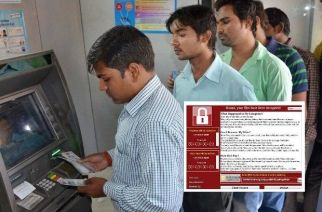 A majority of ATMs in India run on the older version of Windows which is most vulnerable