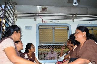 CCTV inside local train compartment