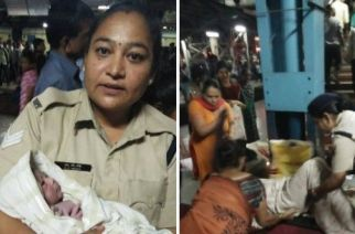 The passenger delivered a baby boy at Thane station with timely assistance of RPF LHC Shobha Mote (Picture Courtesy: Subhash Mhatra)
