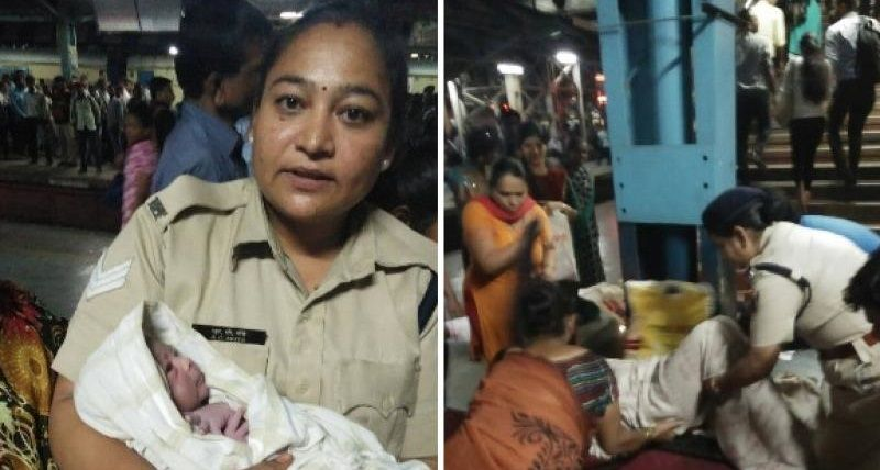 Woman delivers baby boy at Thane station with RPF officer's aid