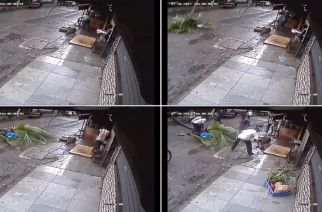 The woman succumbed to her injuries on Saturday morning (screengrab of the CCTV footage)
