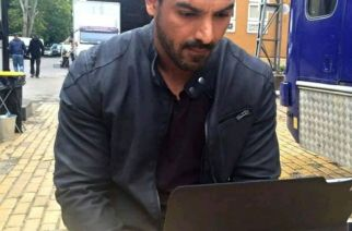 John Abraham working on one of the sets of his films