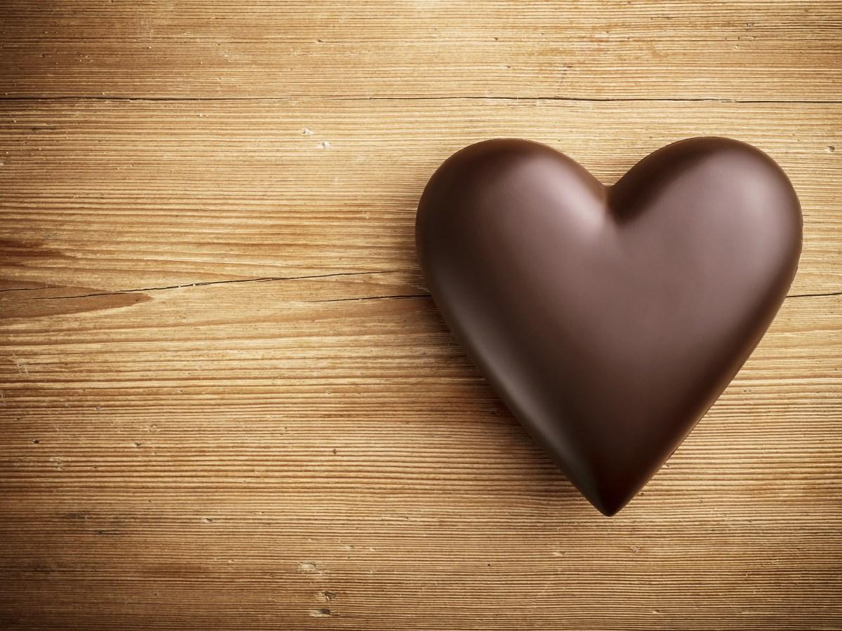 chocolate heart love