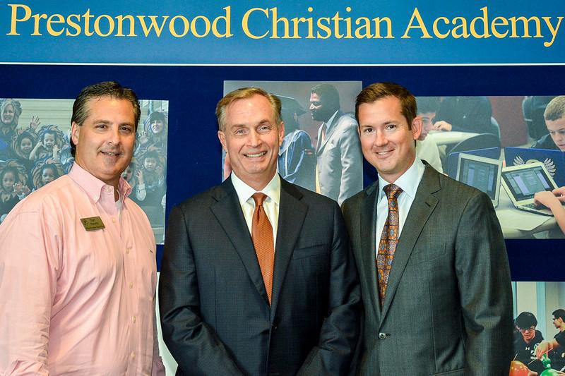 Dan Panetti, Dr. Hal Urschel, David M. Kniffen Jr.-L_Prestonwood_Christian_Academy