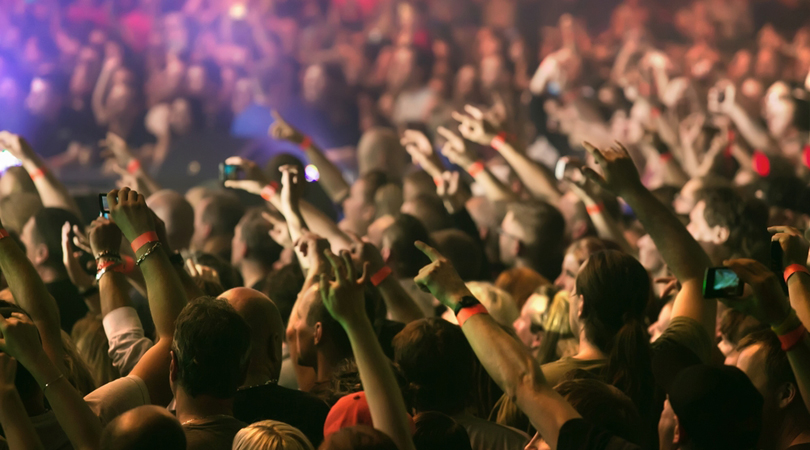 concert crowd plano profile
