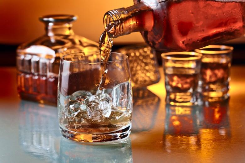 scotch whisky whiskey pour liquor drink glass