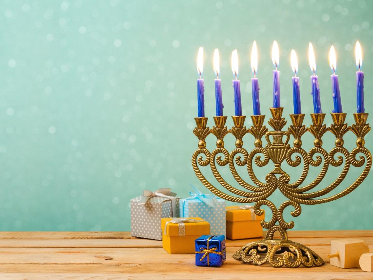 Jewish Chanukah Hannukah Holiday Light Menorah