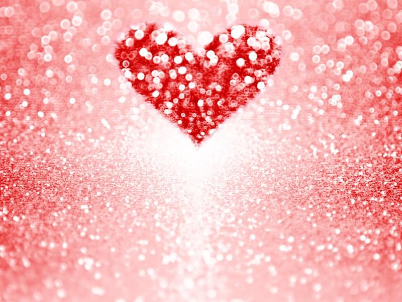 Valentine heart red